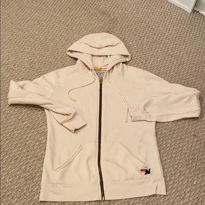 Women's aviator nation zip up hoodie
